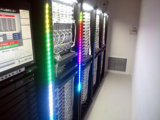 DC12V電源によるLED(カラー)照明